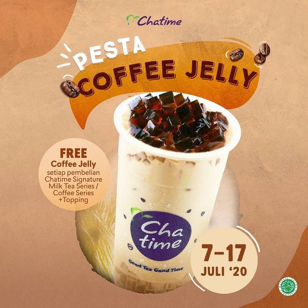 Diskon Promo Pesta Coffee Jelly Chatime Gratis Coffee Jelly Setiap Pembelian Minuman Pilihan