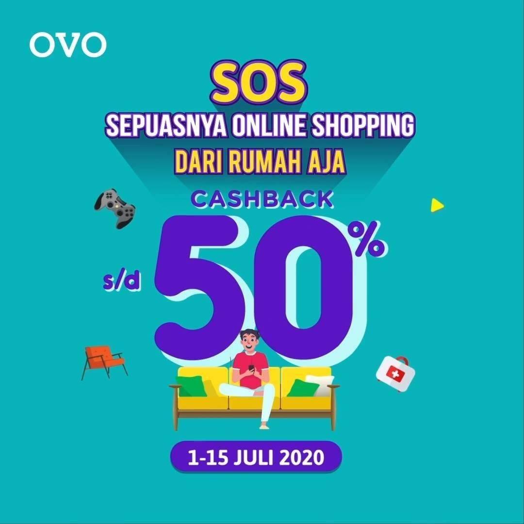 Diskon Promo OVO Sepuasnya Online Shopping Dapatkan Cashback Hingga 50%