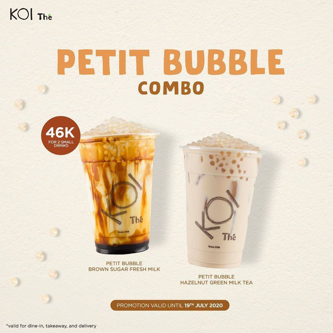Diskon Promo KOI Petit Bubble Combo Hanya Rp. 46.000