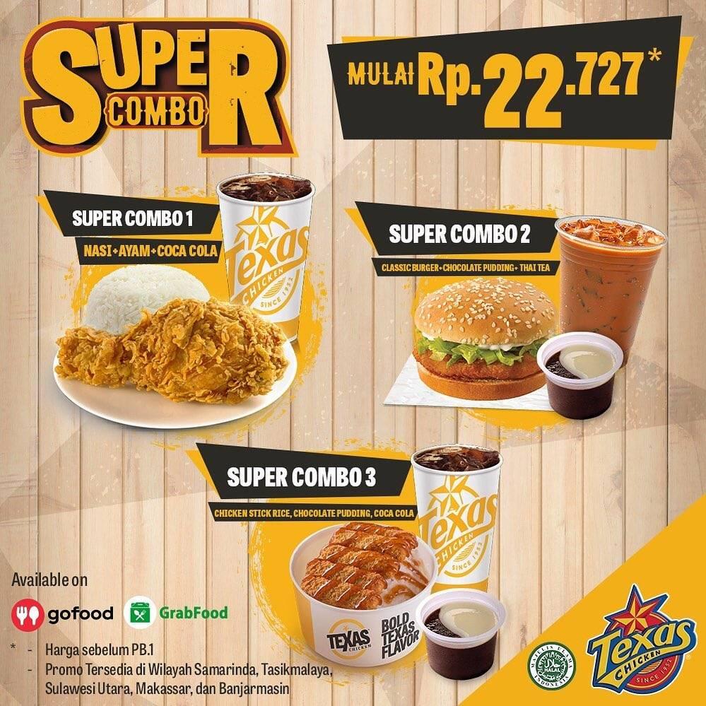 Diskon Promo Texas Chicken Paket Super Combo Dengan Harga Mulai Dari Rp. 22.727