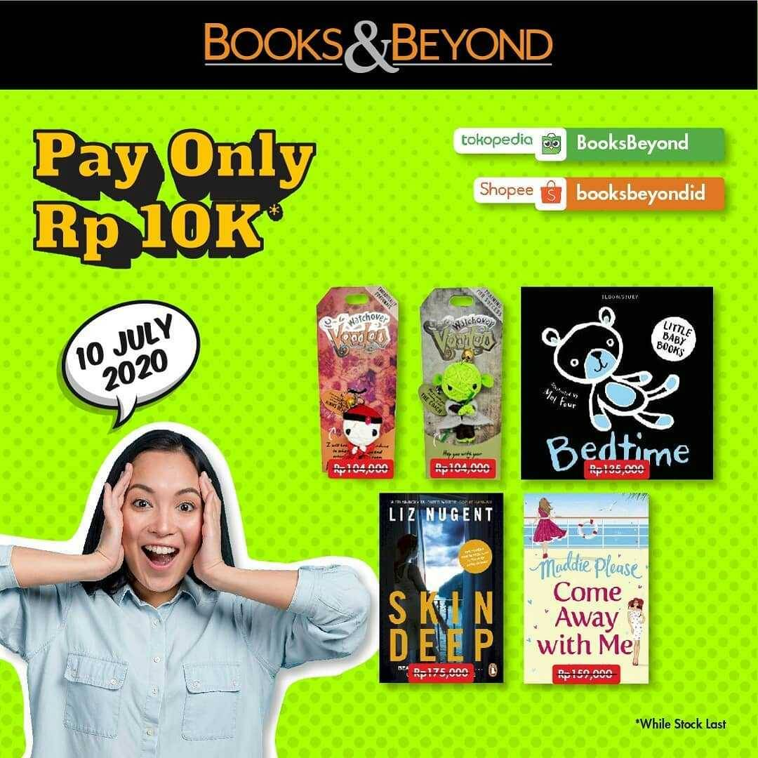 Promo diskon Promo Books & Beyond Pay Only For IDR. 10.000 On Selected Books
