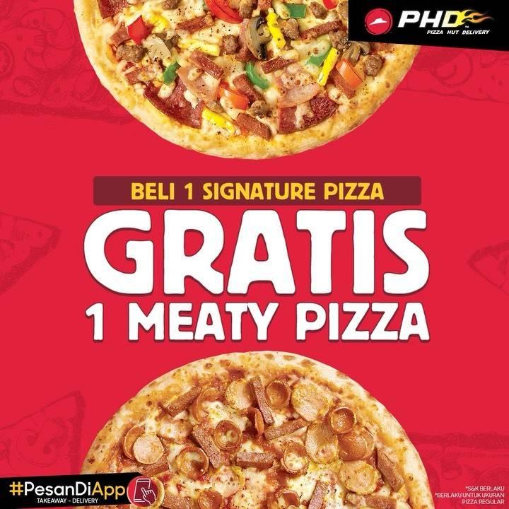 Diskon Promo PHD Beli 1 Signature Pizza Gratis 1 Meaty Pizza