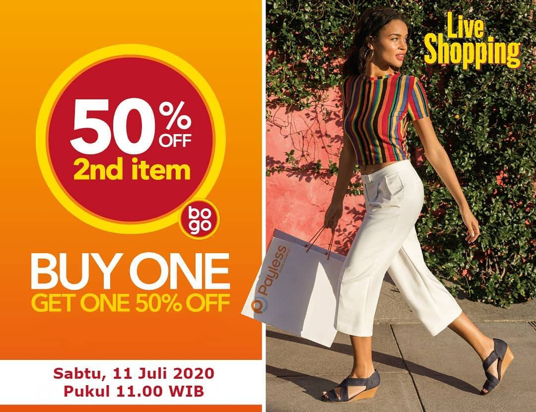 Diskon Promo Payless Live Shopping Discount 50% Off For Second Items