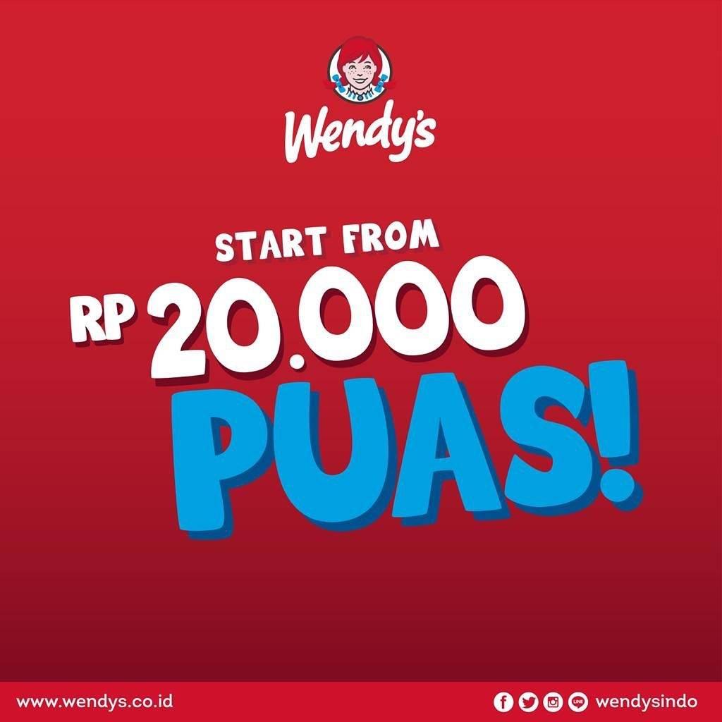 Diskon Promo Wendys Paket Puas Dengan Harga Mulai Dari Rp. 20.000