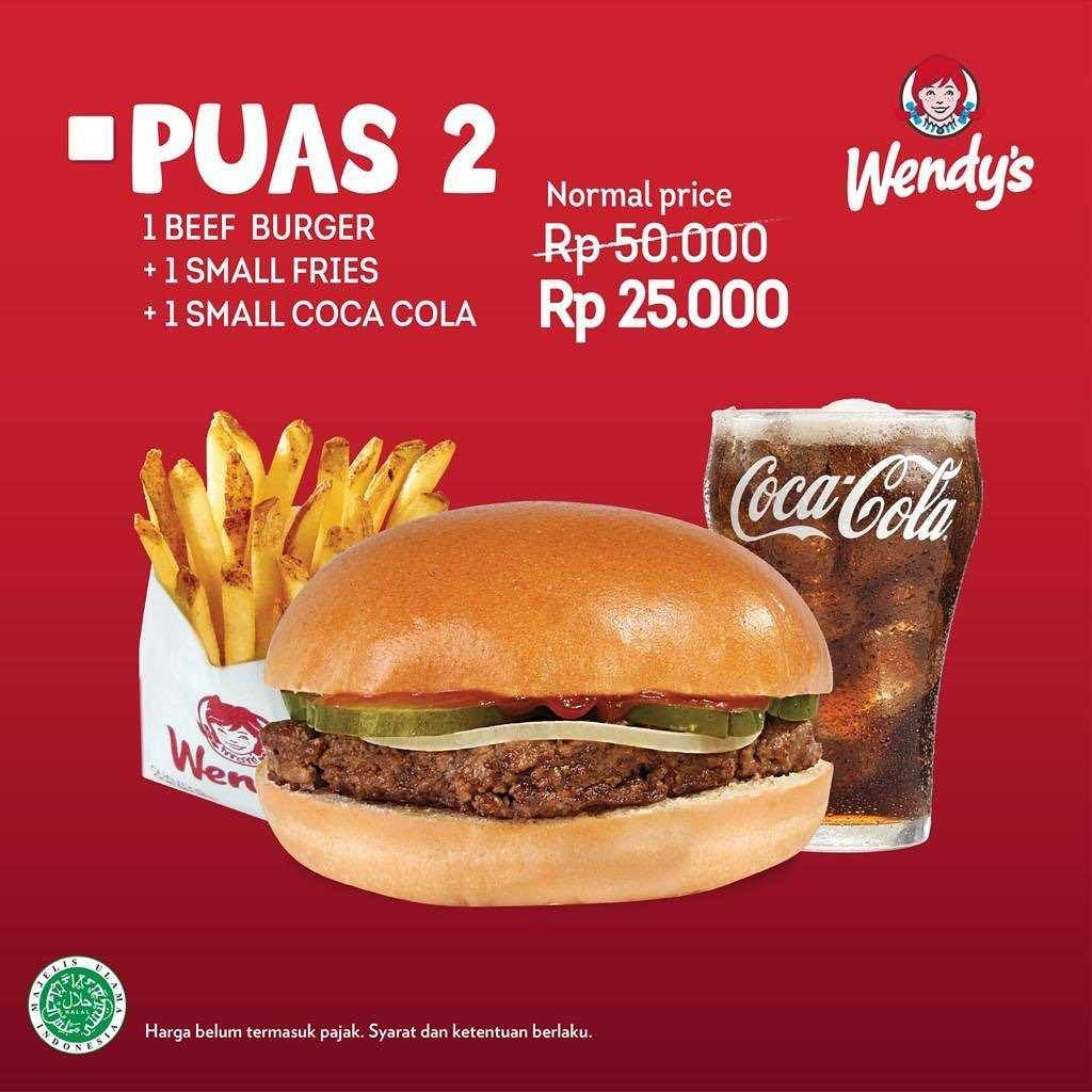 Promo diskon Promo Wendys Paket Puas Dengan Harga Mulai Dari Rp. 20.000