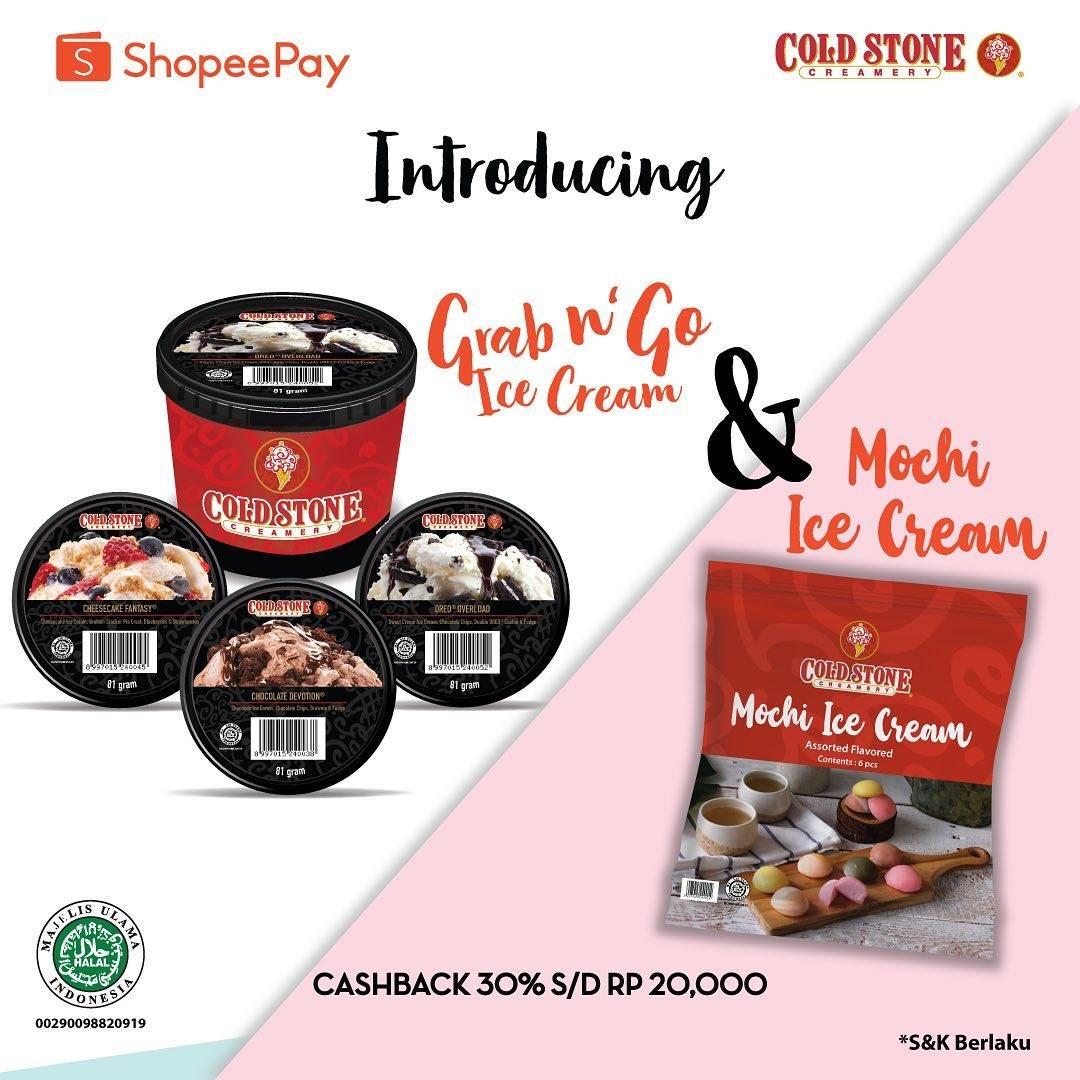 Diskon Promo Cold Stone Cashback 30% Untuk Transaksi Menggunakan Shopeepay
