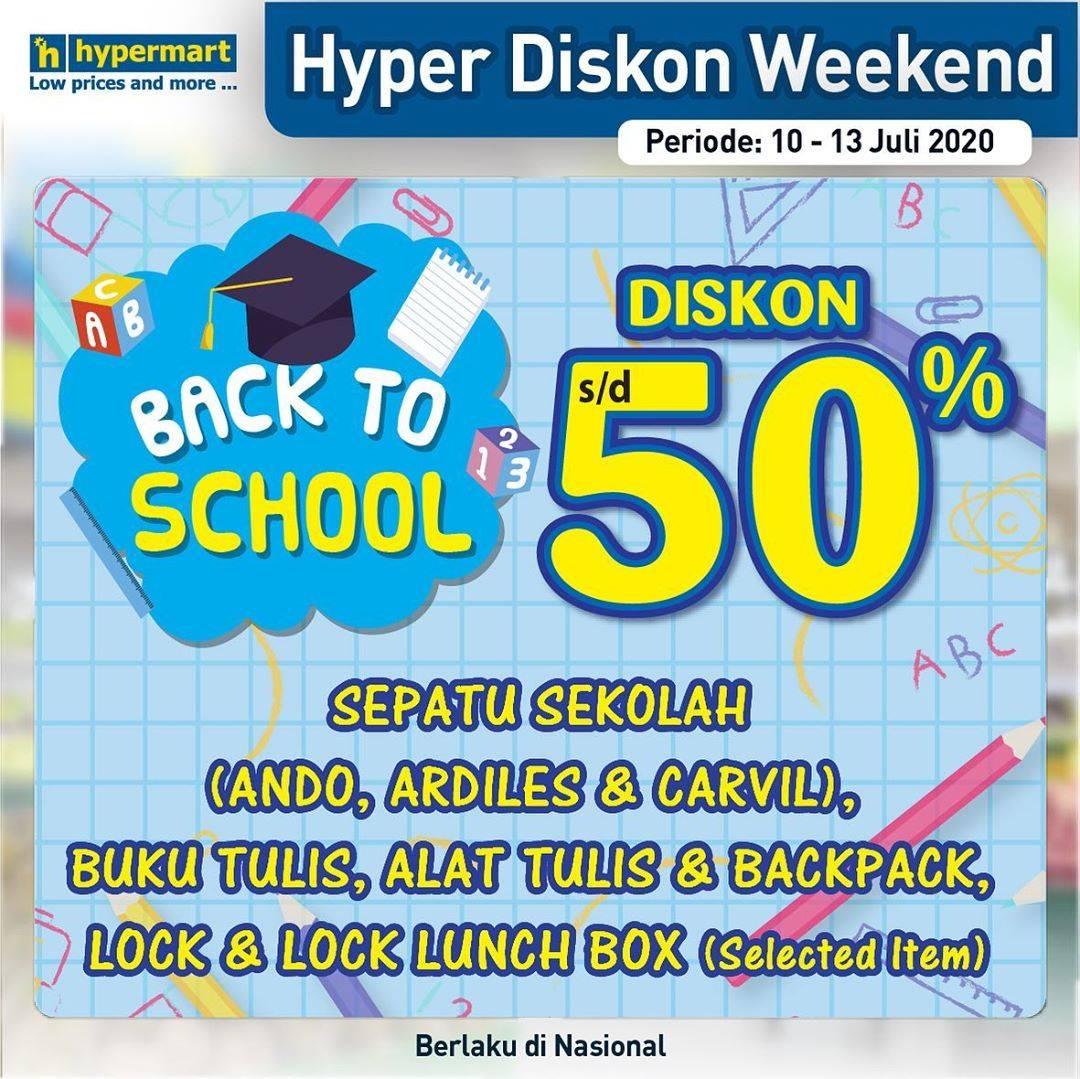 Diskon Katalog Promo Hypermart Diskon Weekend Back To School Periode 10 - 13 Juli 2020