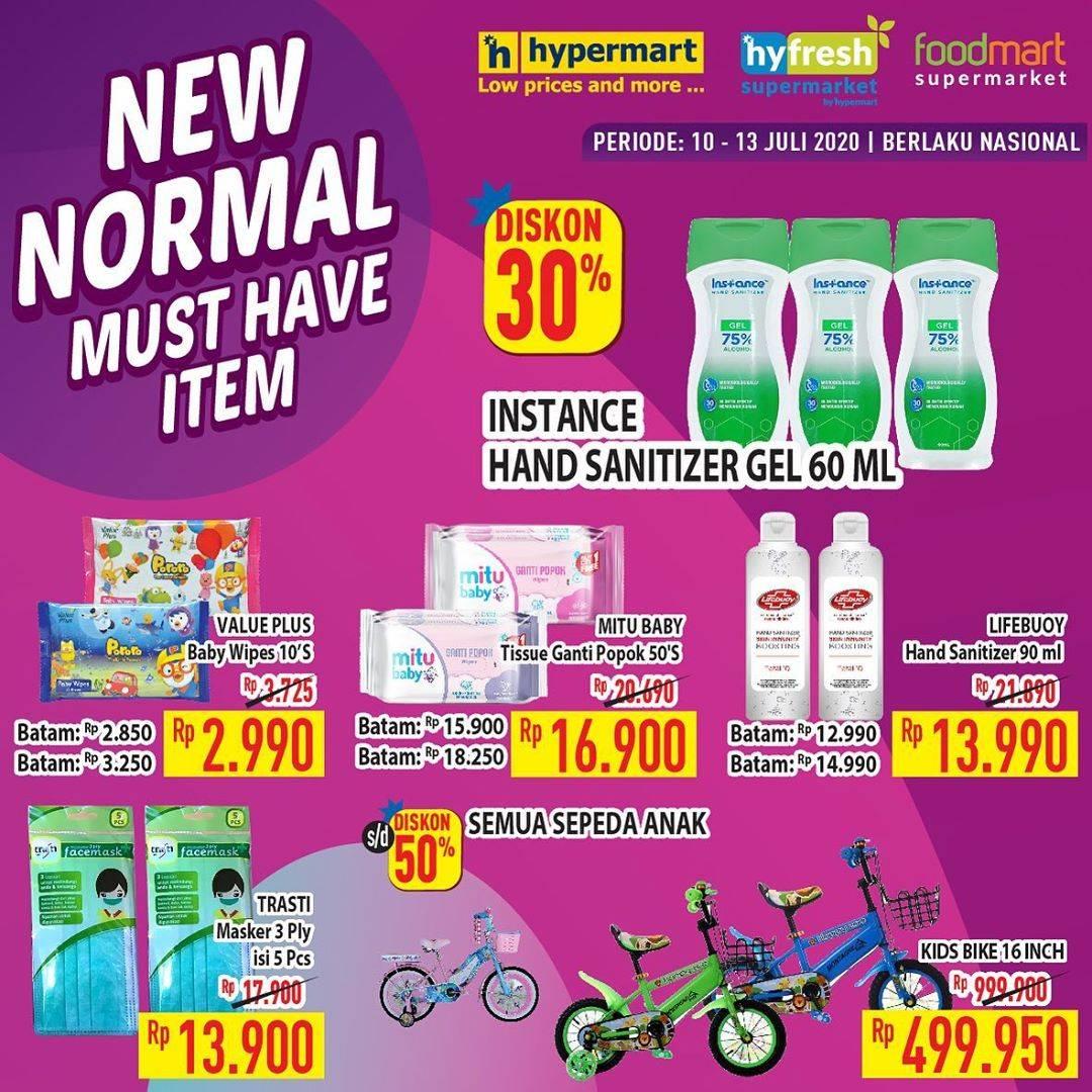 Diskon Katalog promo Hypermart New Normal Must Have Periode 10 - 13 Juli 2020