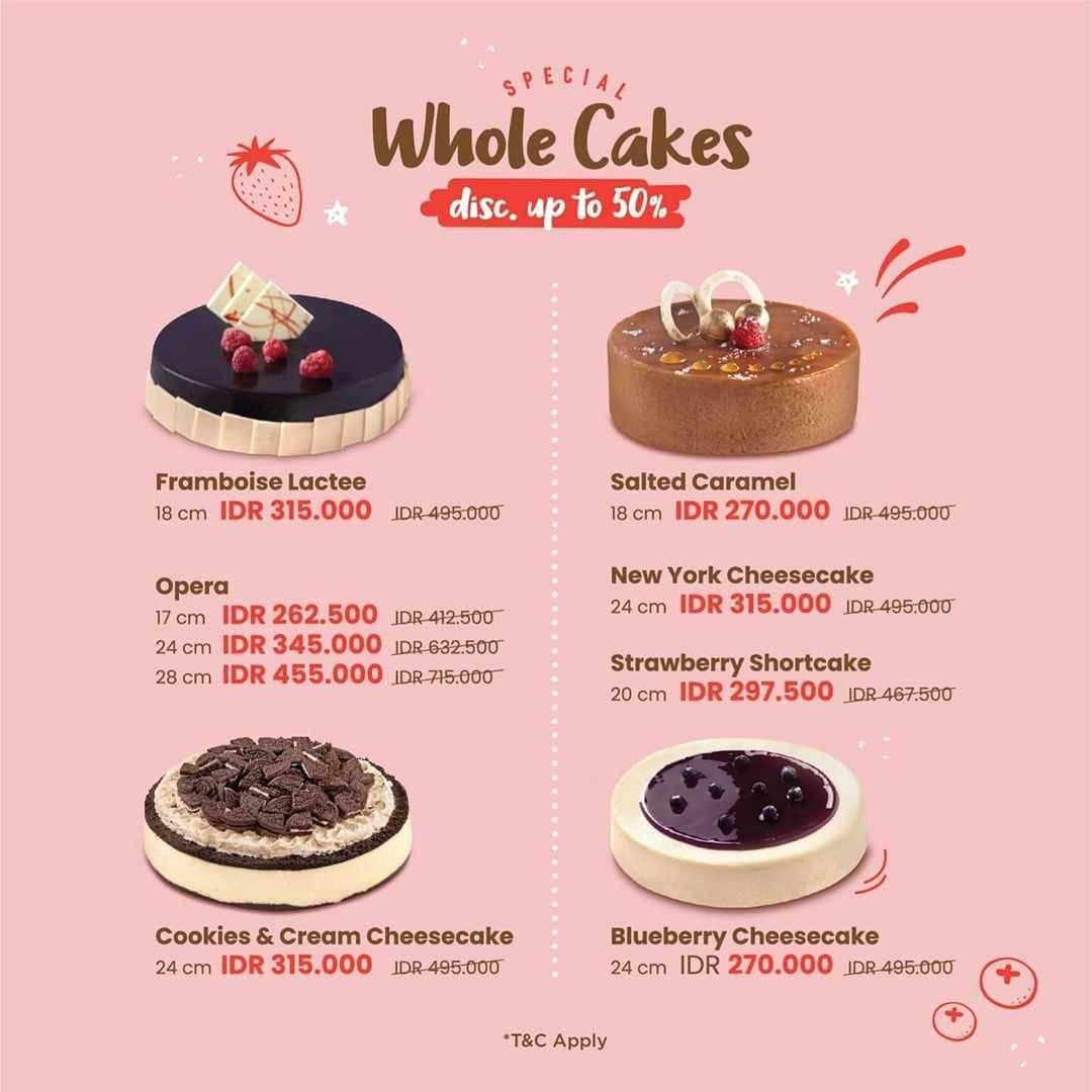 Promo diskon Promo Bakerzin & Pish & Posh Discount Up To 50% Off For Whole Cakes