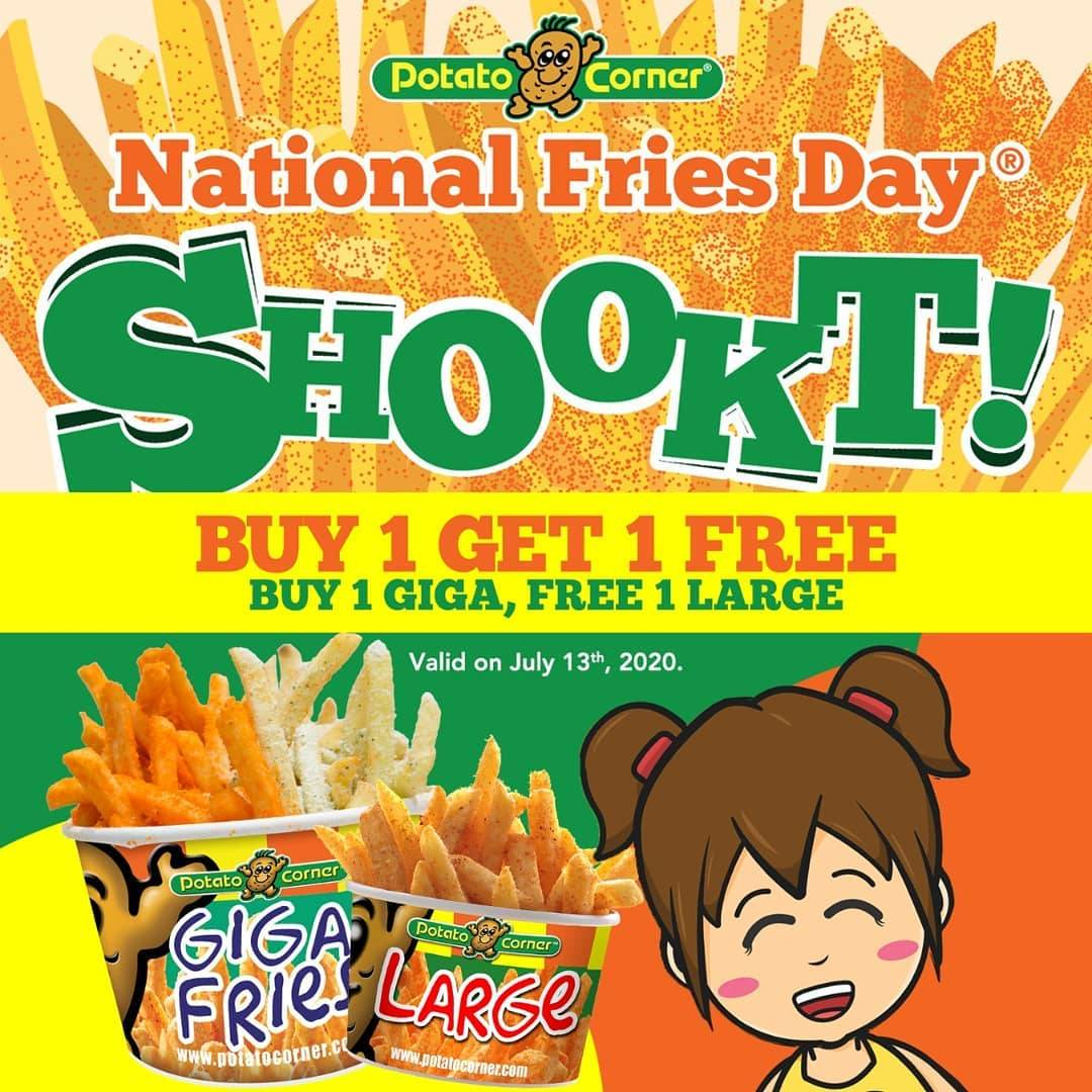 Diskon Promo Potato Corner Buy 1 Get 1 Free