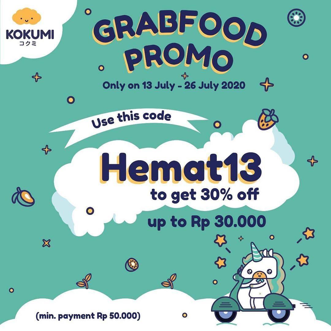 Diskon Promo Kokumi Diskon 30% Untuk Pemesanan Melalui GrabFood