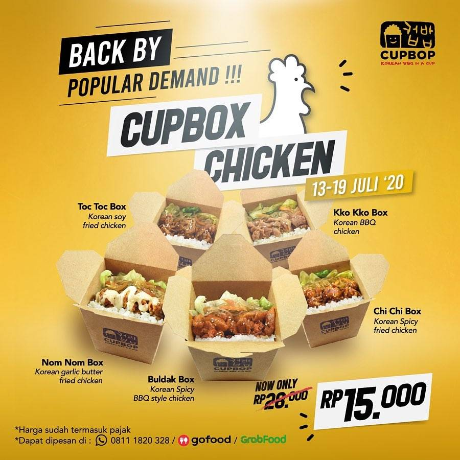 Diskon Promo Cupbob Cupbox Chicken Hanya Rp. 15.000