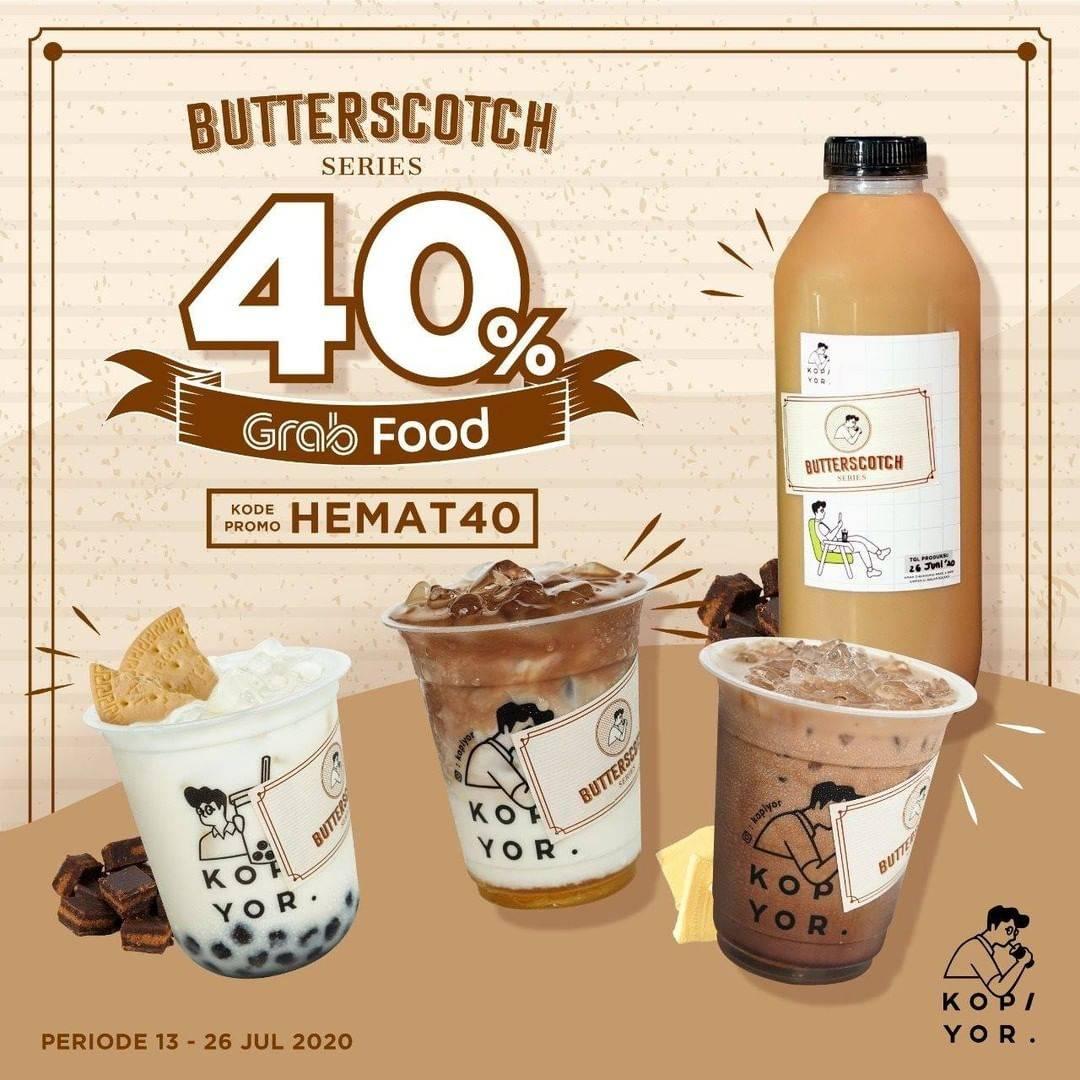 Diskon Promo Kopi Yor Diskon 40% Untuk Pemesanan Butterscotch Series Melalui Grabfood