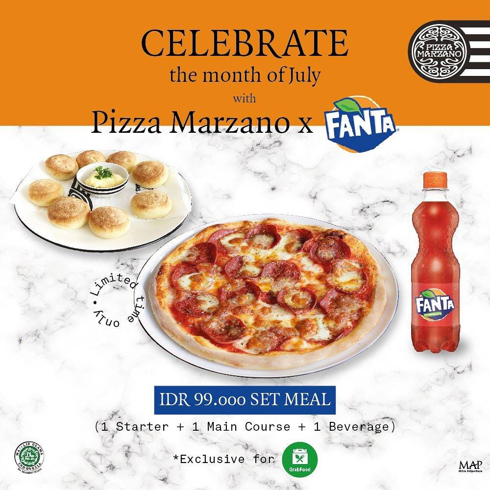 Diskon Promo Pizza Marzano x Fanta Meal Set Only For IDR 99.000