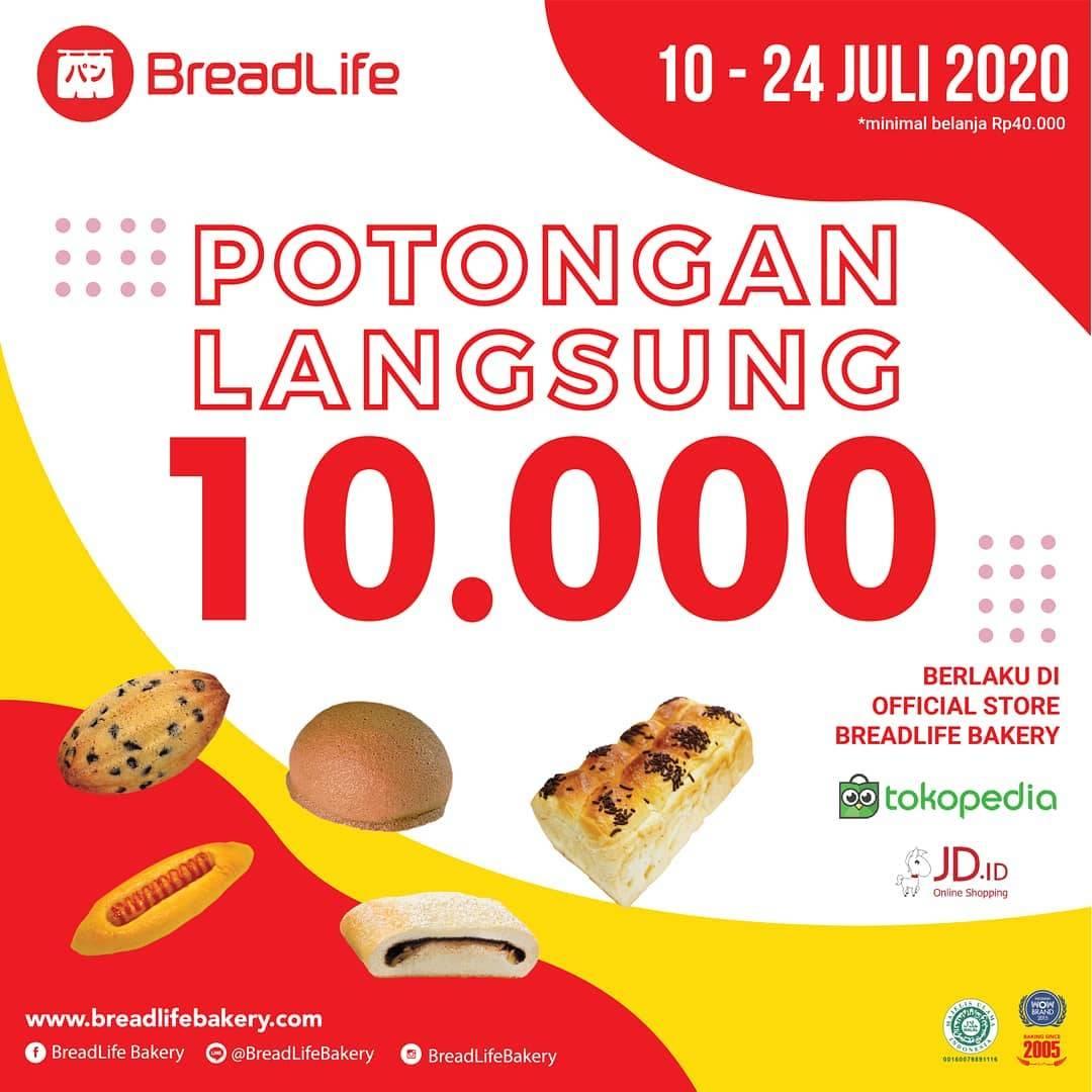 Diskon Promo Breadlife Potongan Langsung Rp. 10.000 Untuk Pembelian Melalui Tokopedia/JD.ID
