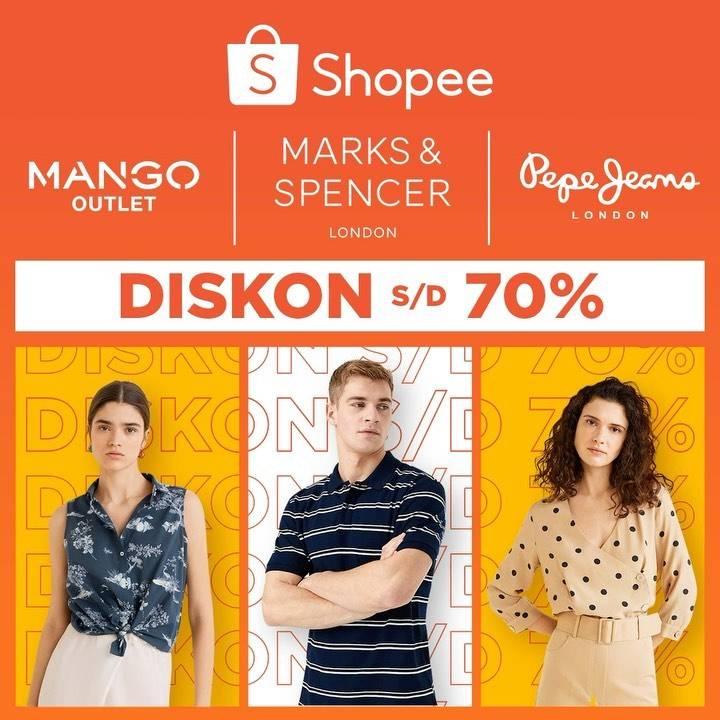Diskon Promo Shopee Diskon Hingga 70% Untuk Produk Fashion Dari Brand Pilihan