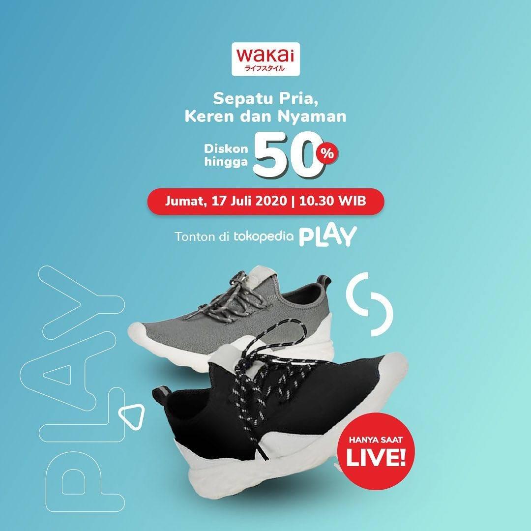 Diskon Promo Wakai Diskon 50% Untuk Live Streaming Di Tokopedia Play