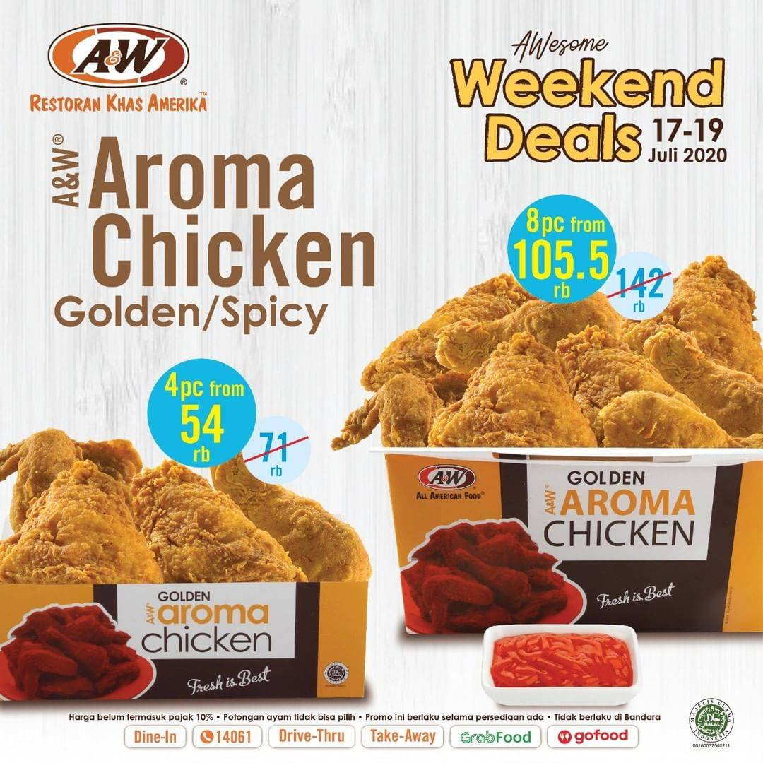 Diskon Promo A&W Restaurant Awesome Weekend Deals Start From IDR 54.000