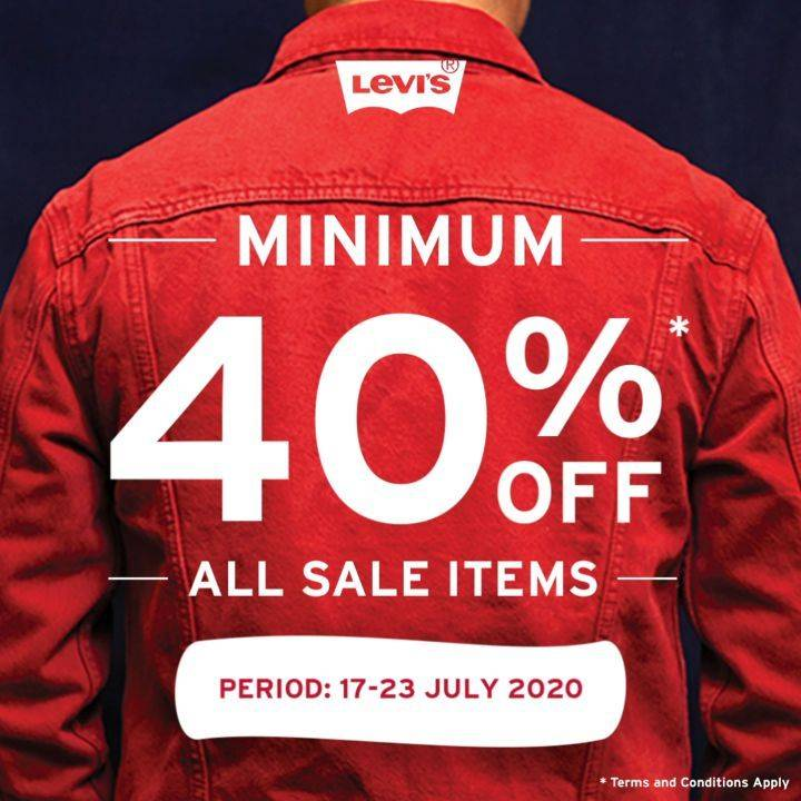 Diskon Promo Levis Diskon Minimum 40% All Sale Items