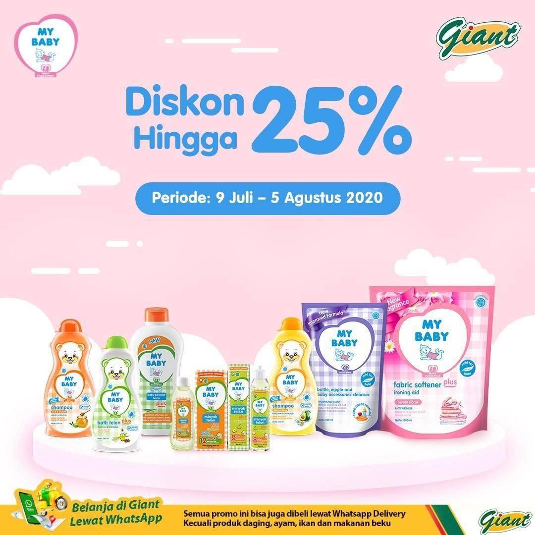 Diskon Katalog Promo Giant Spesial My Baby 25% Periode 9 Juli - 5 Agustus 2020
