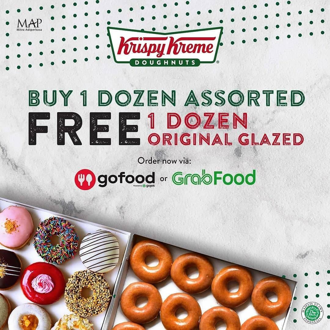 Diskon Promo Krispy Kreme BOGO Weekend Buy 1 Get 1 Free Doughnut