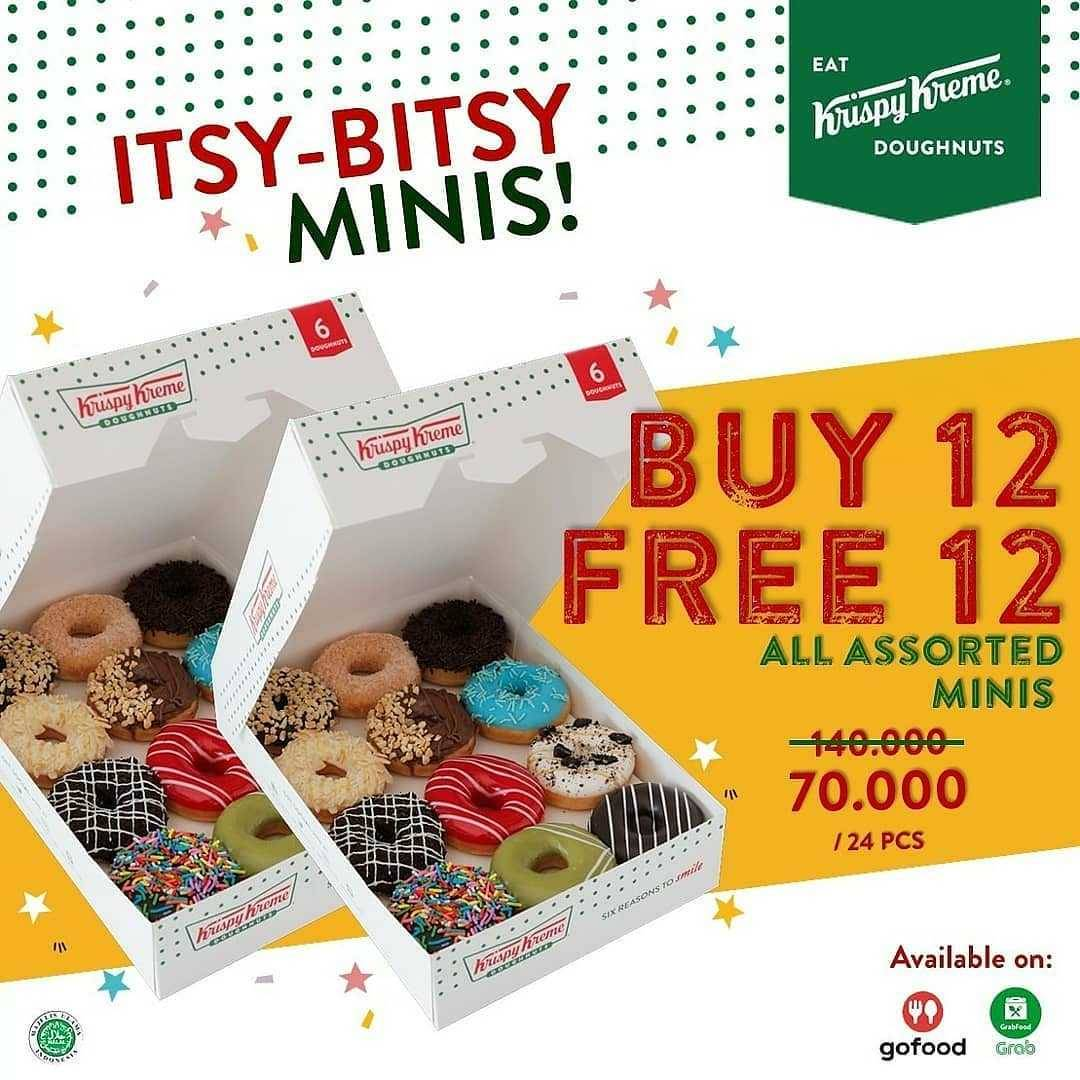 Promo diskon Promo Krispy Kreme BOGO Weekend Buy 1 Get 1 Free Doughnut