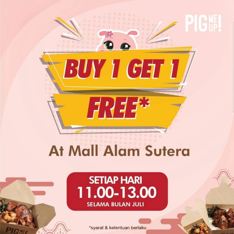 Diskon Promo Pig Me Up Mall Alam Sutera Buy 1 Menu Signature Get 1 Free Chasu Rice Box