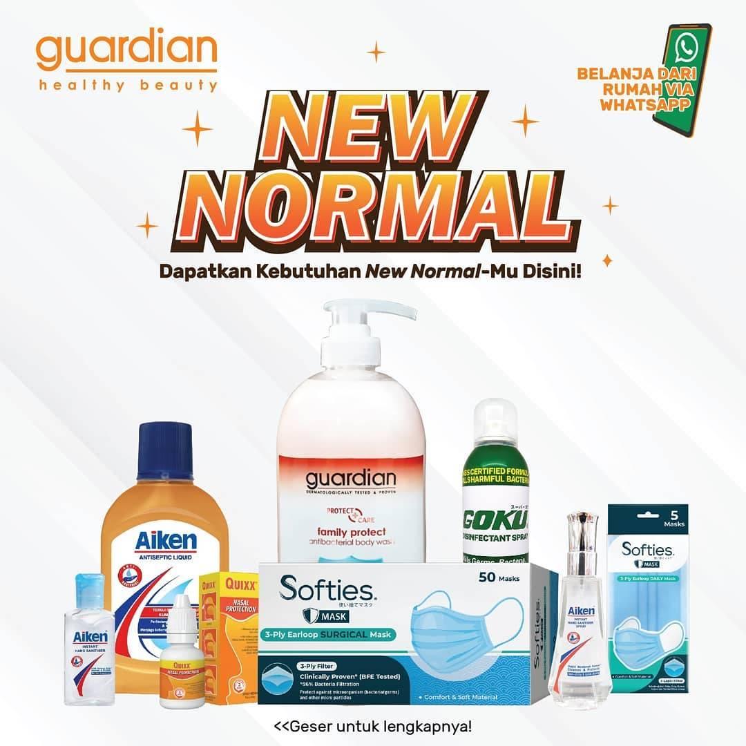 Diskon Katalog Promo Guardian Kebutuhan New Normal Periode Hingga 22 Juli 2020