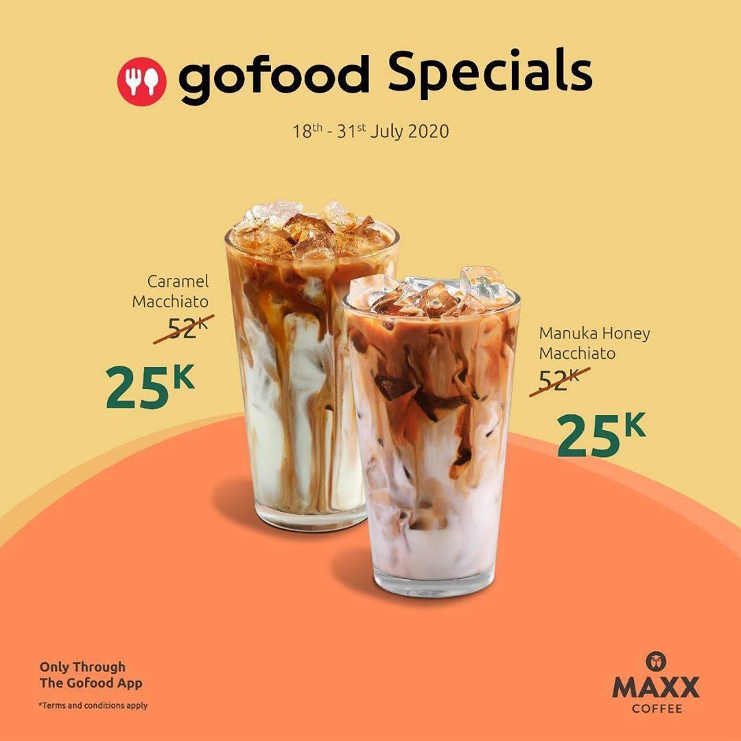 Diskon Promo Maxx Coffee Harga Spesial Menu GoFood Specialis Mulai Dari Rp. 25.000