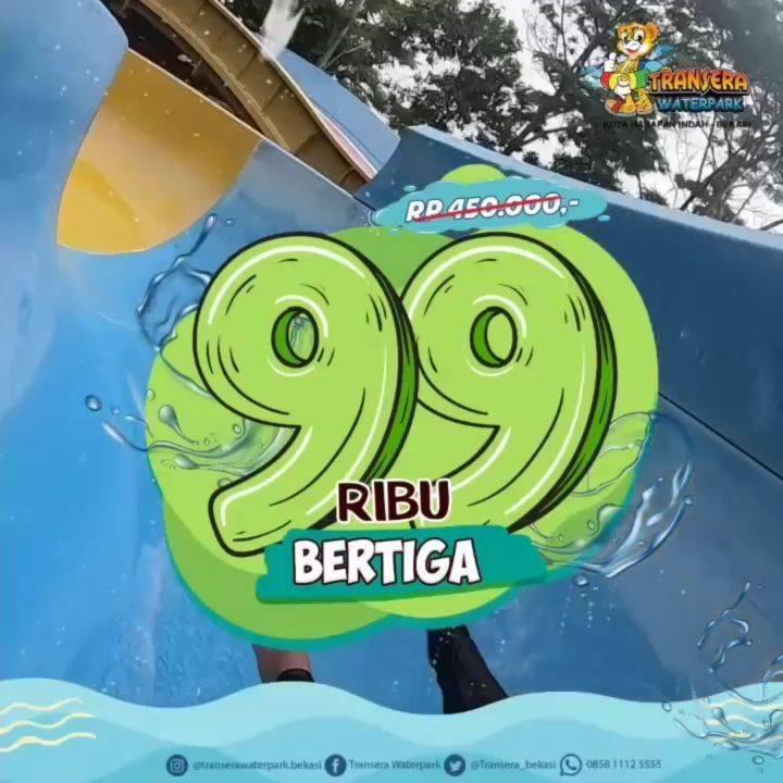 Diskon Promo Transera Waterpark Paket Beritga lebih Hemat Hanya Rp. 99.000