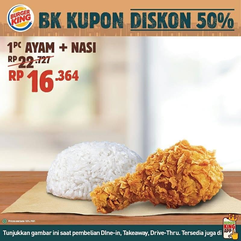 Diskon Promo Burger King Kupon Diskon 50%