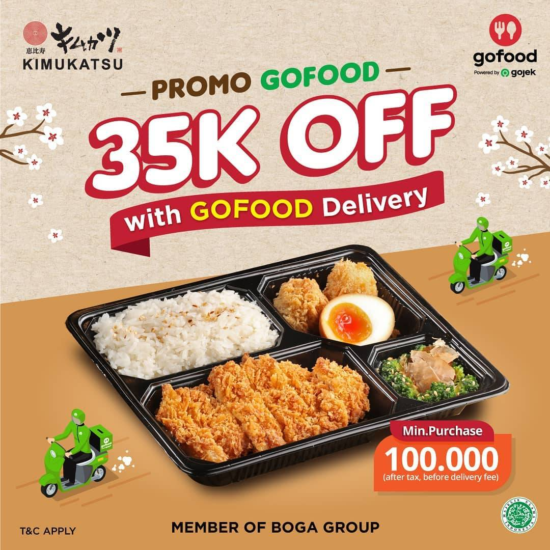 Diskon Promo Kimukatsu Get Discount IDR. 35.000 Off With GoFood Delivery