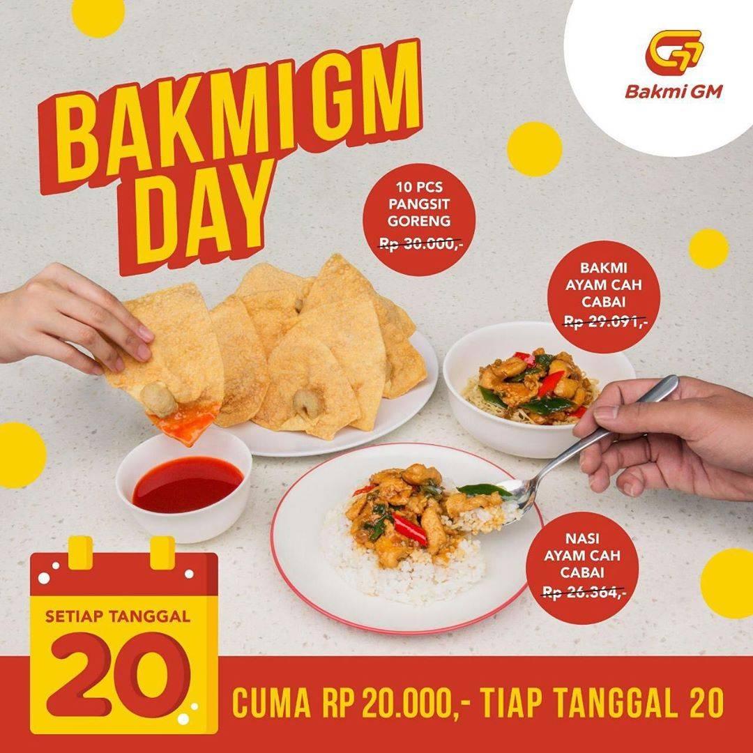 Diskon Promo Bakmi GM Day Harga Spesial Hanya Rp. 20.000 Untuk Menu Favorit