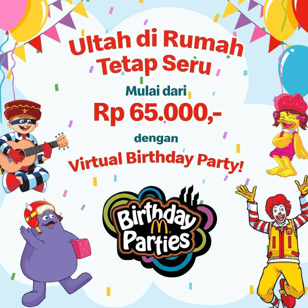 Diskon Promo McDonalds Paket Virtual Birthday Party Mulai Dari Rp. 65.000