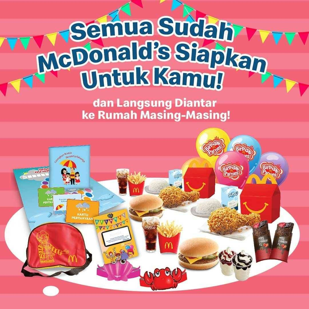 Promo diskon Promo McDonalds Paket Virtual Birthday Party Mulai Dari Rp. 65.000