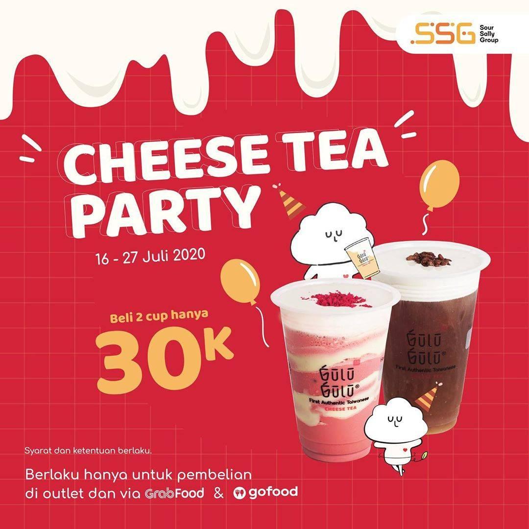 Diskon Promo Gulu Gulu Cheese Tea Party Beli 2 Cup Hanya Rp. 30.000