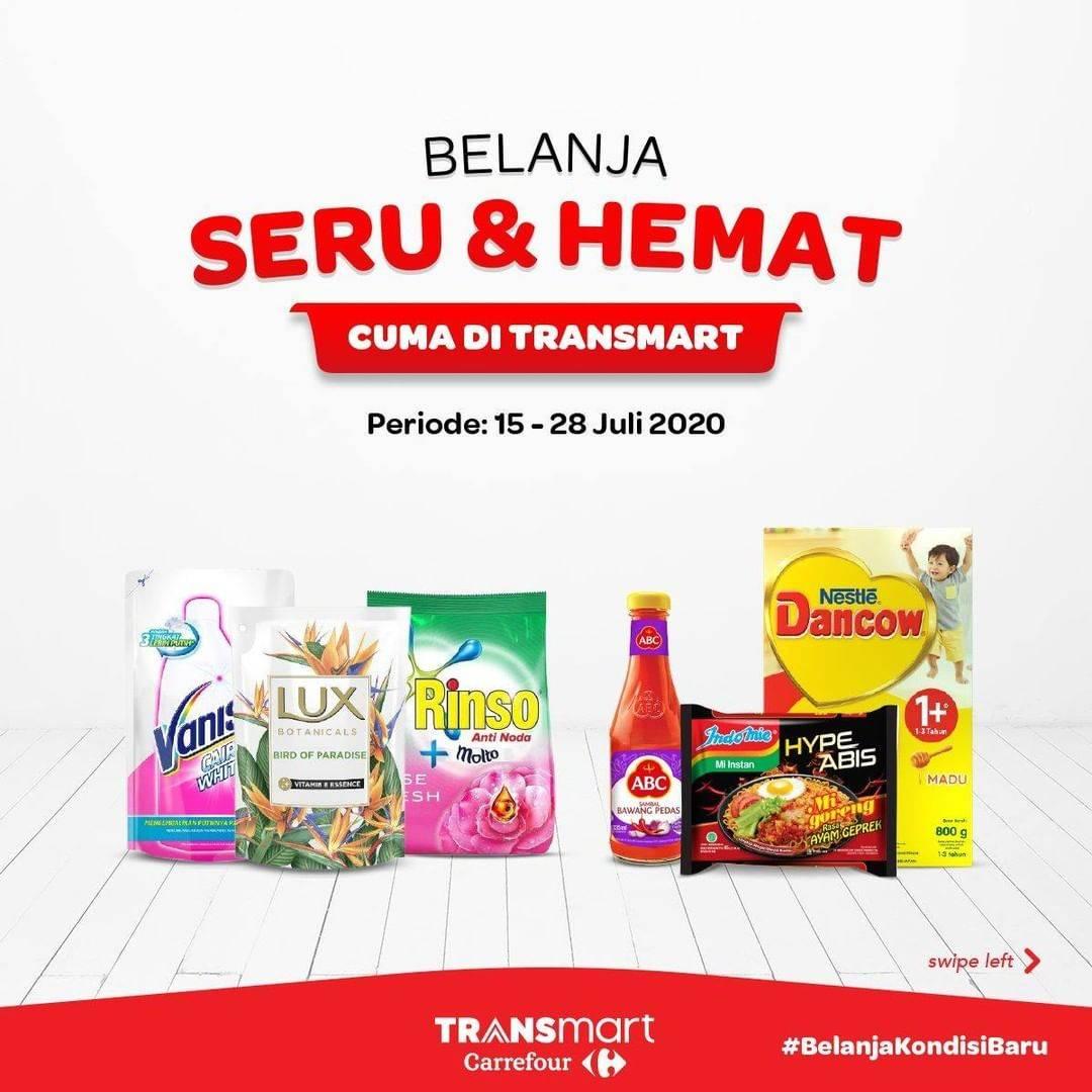 Diskon Katalog Promo Transmart Belanja Hemat Periode 15 - 28 Juli 2020