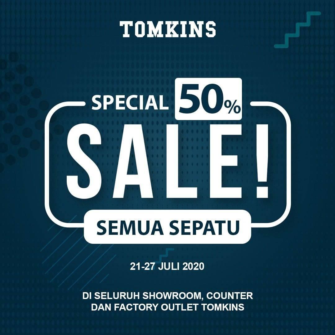 Diskon Promo Tomkins Special Sale 50% Untuk Semua Sepatu