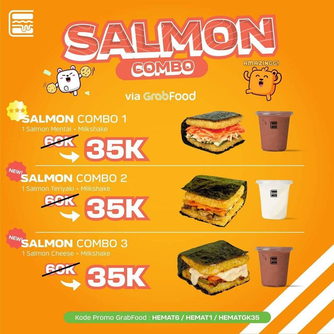 Diskon Promo Burgushi Harga Spesial Salmon Combo Hanya Rp. 35.000 Untuk Order Via GrabFood