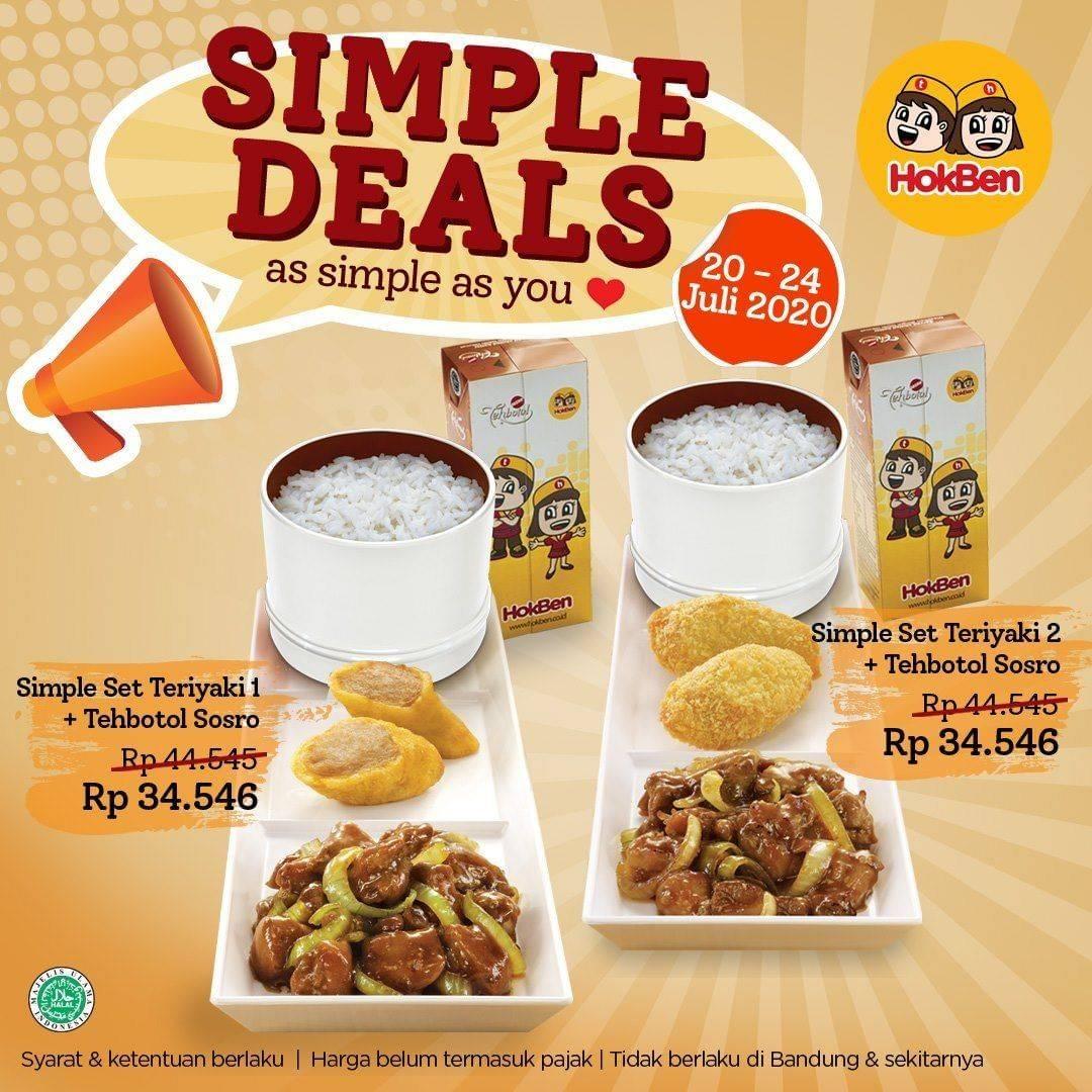 Diskon Promo Hokben Simple Deals Untuk Paket Simple Set Hanya Rp. 34.546