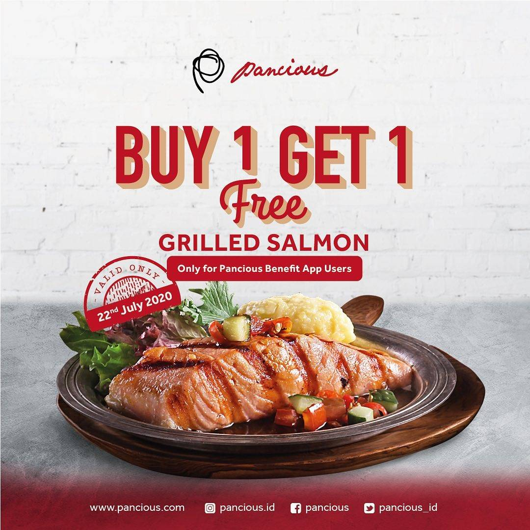 Diskon Promo Pancious Buy 1 Get 1 Free Grilled Salmon Only For Benefit App Users