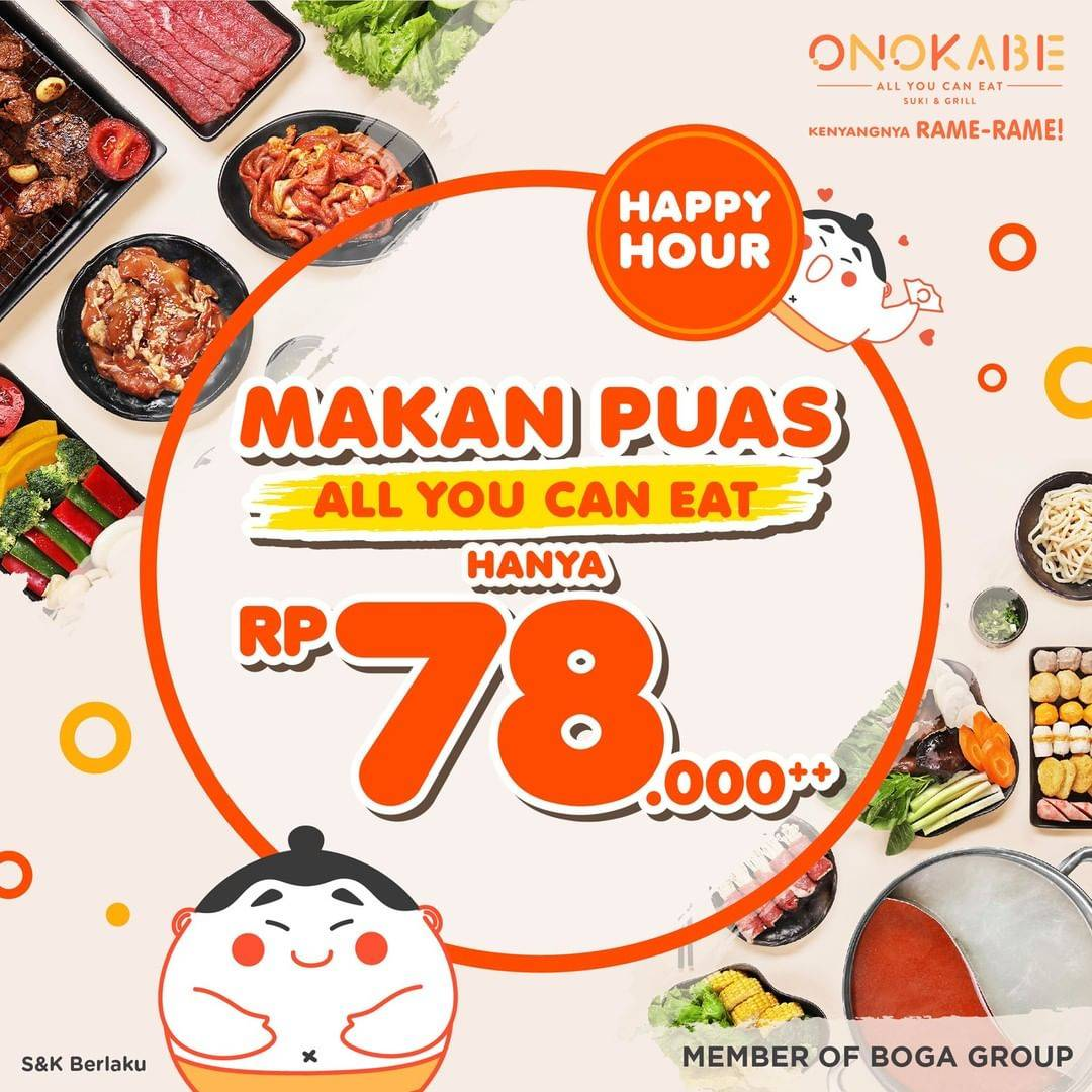 Diskon Promo Onokabe Paket All You Can Eat Hanya Rp. 78.000++