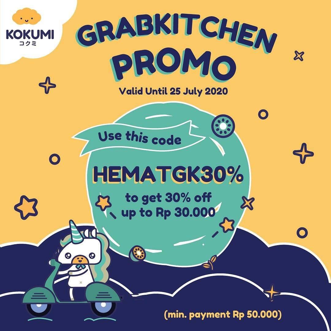 Diskon Promo Kokumi Diskon 30% Untuk Pemesanan Minuman Di Grab Kitchen
