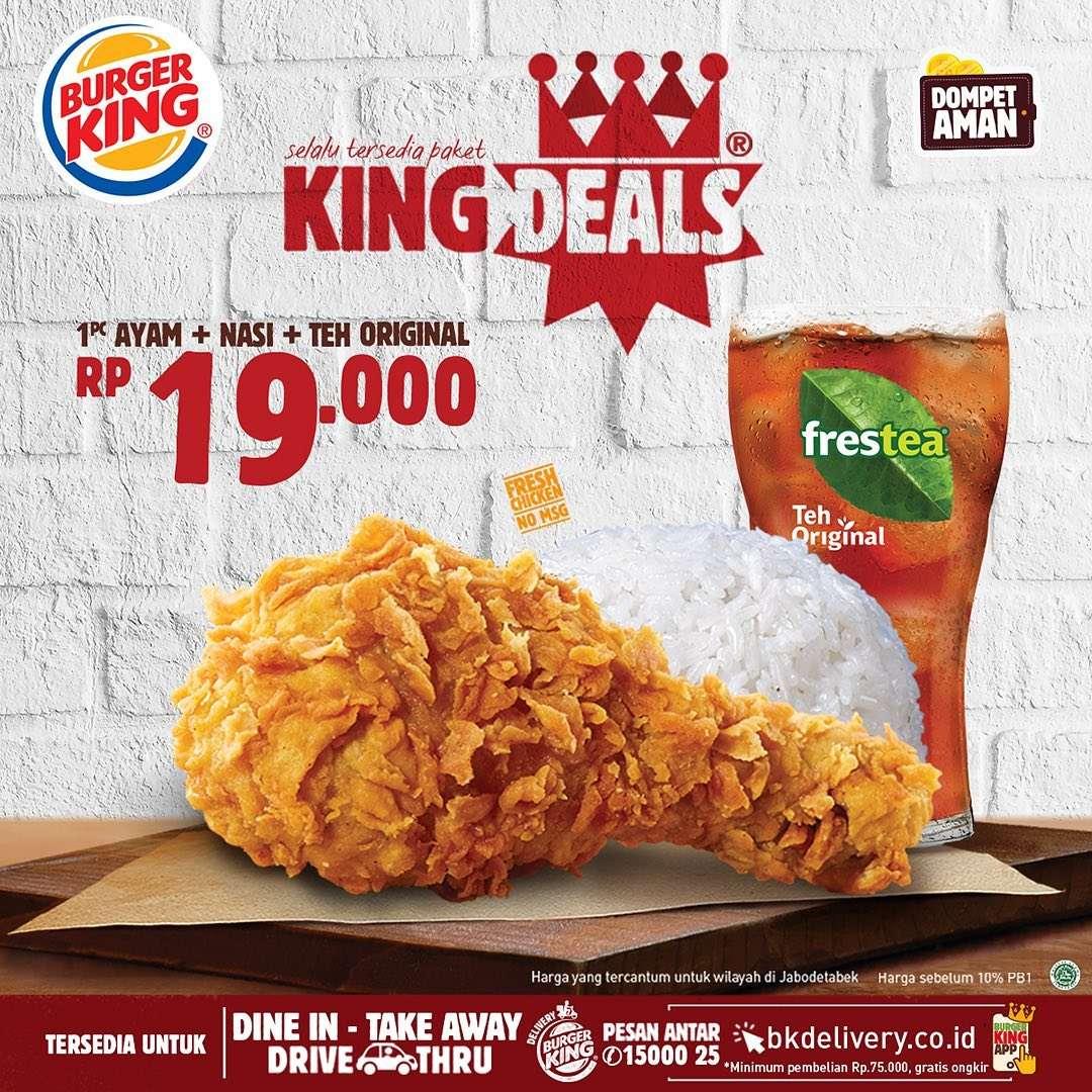 Diskon Promo Burger King Paket King Deals Dengan Harga Mulai Dari Rp. 19.000