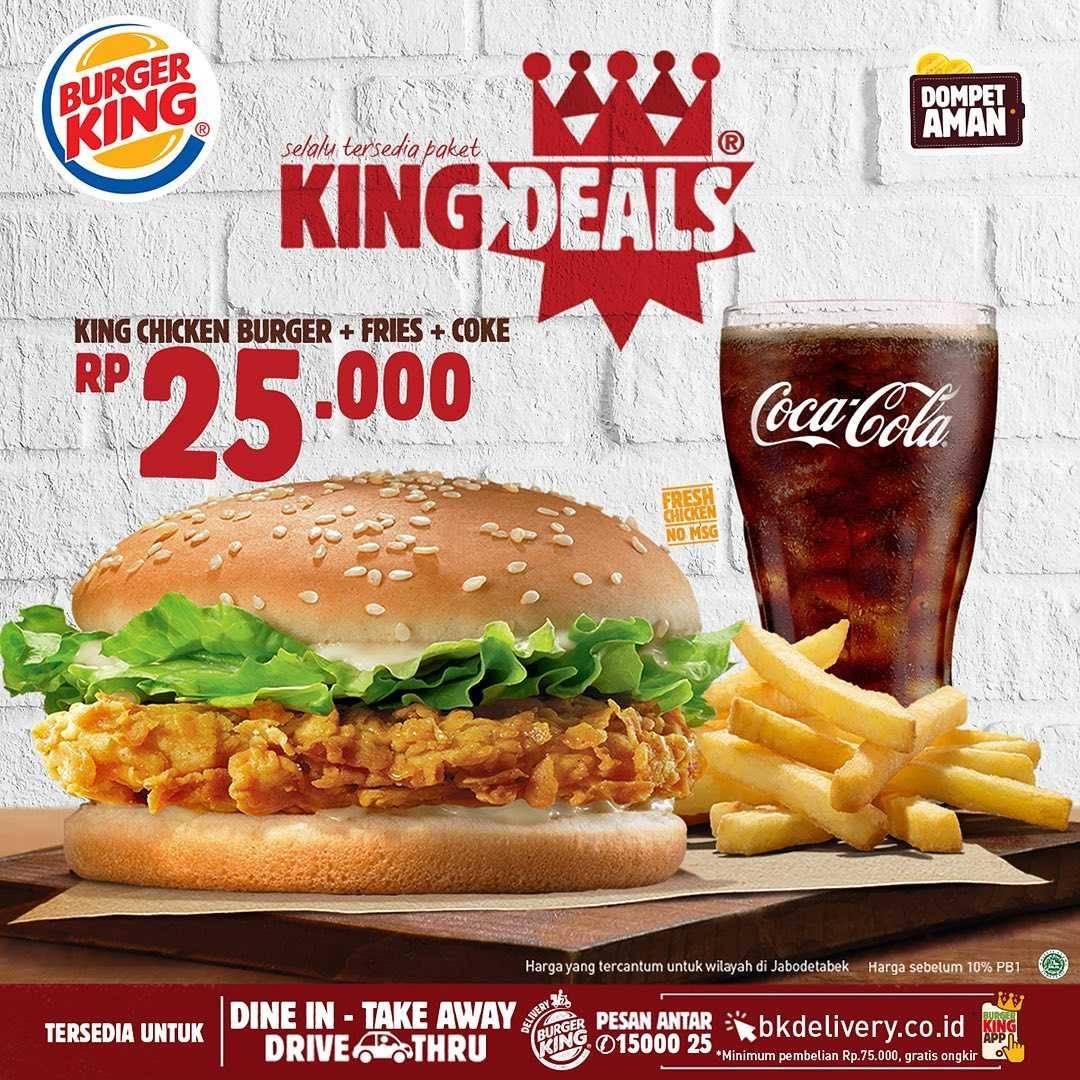 Promo diskon Promo Burger King Paket King Deals Dengan Harga Mulai Dari Rp. 19.000