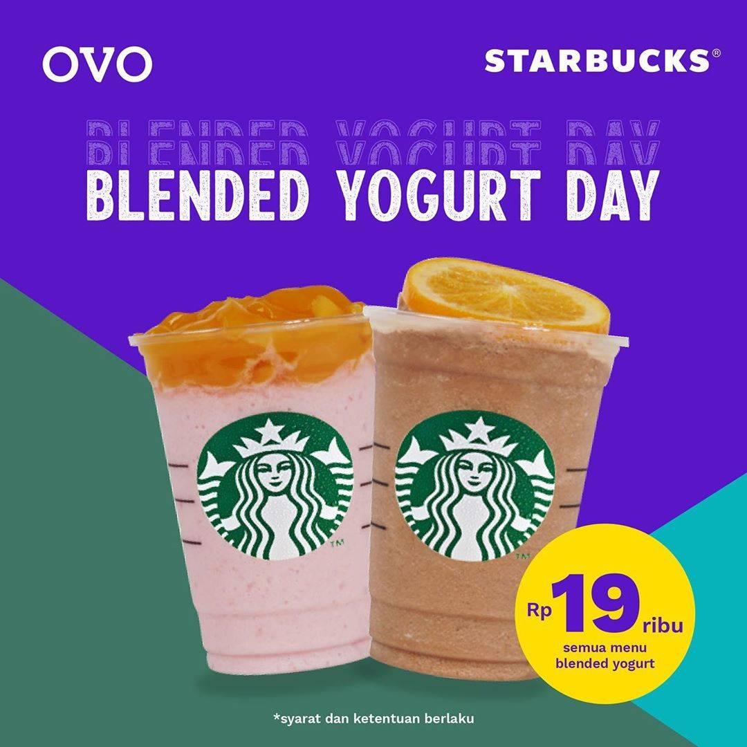 Diskon Promo Starbucks Blended Yogurt Day! Menu Yogurt Hanya Rp. 19.000 Untuk Transaksi Dengan OVO
