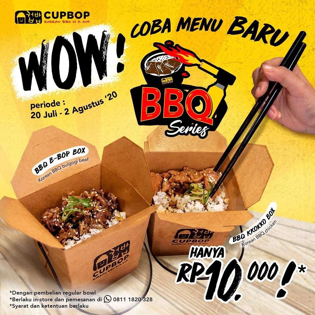 Diskon Promo Cup Bob Harga Spesial BBQ Series Hanya Rp. 10.000