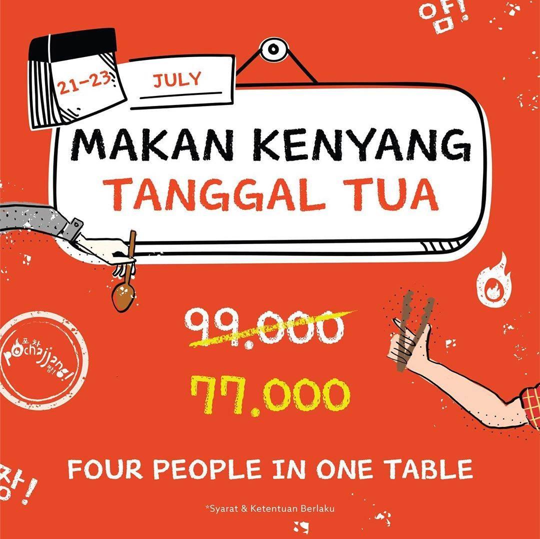 Diskon Promo Pochajjang Paket Makan Kenyang Tanggal Tua Hanya Rp. 77.000