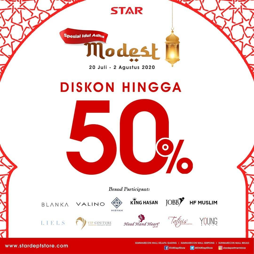 Diskon Promo Star Department Store Spesial Idul Adha Modest Diskon Hingga 50%