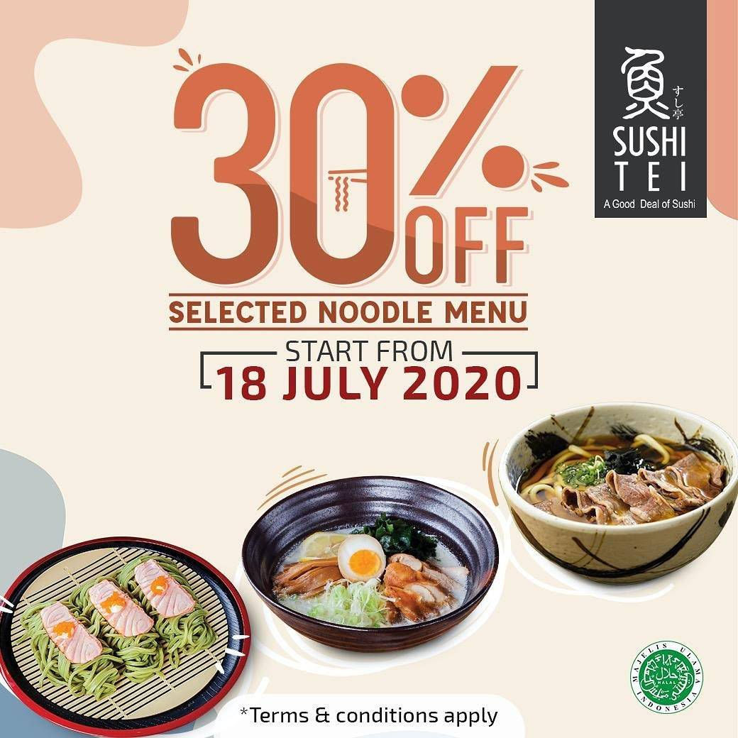 Diskon Promo Sushi Tei Discount 30% Off On Noodle Series